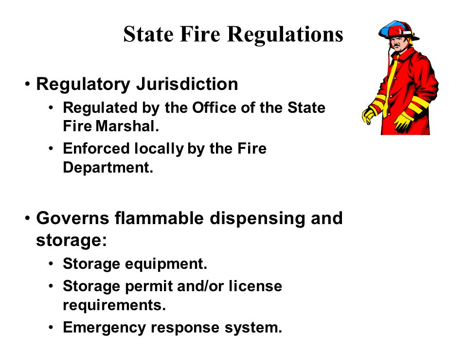 State Fire Regulations