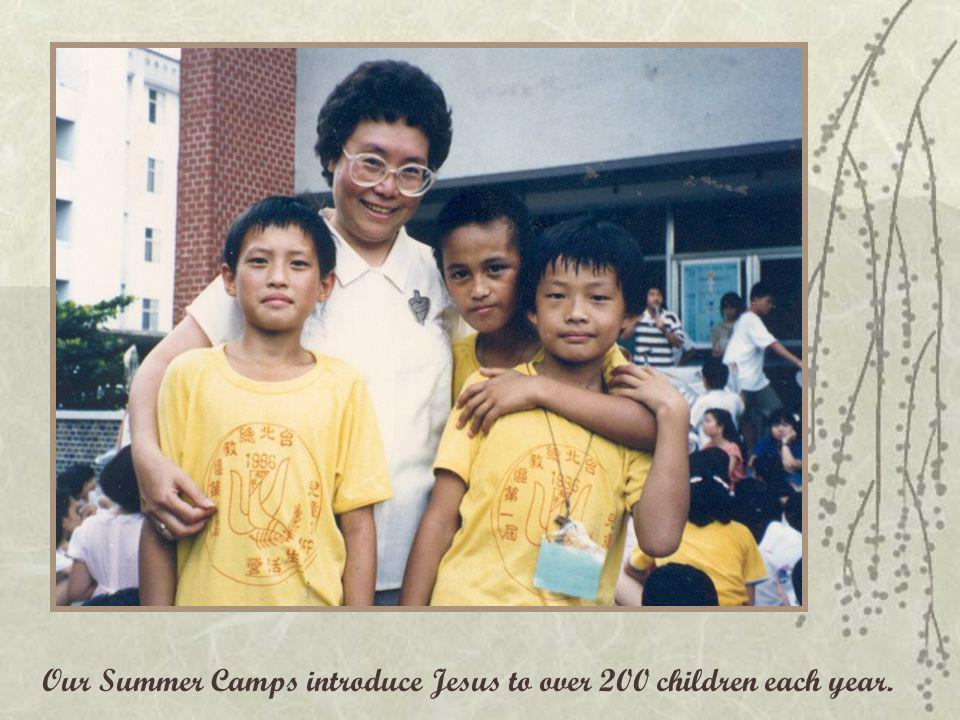 Our Summer Camps introduce Jesus to over 200 children each year.