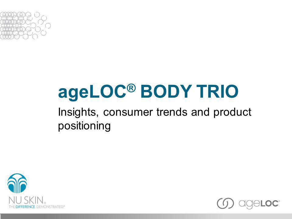 ageLOC® BODY TRIO Insights, consumer trends and product positioning