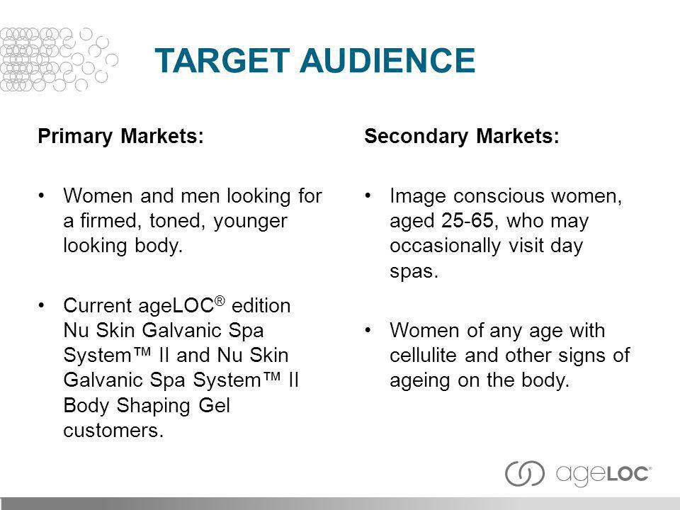 Target Audience Primary Markets: