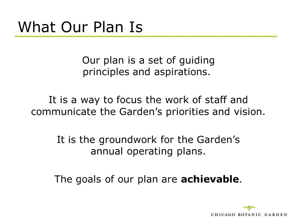 What Our Plan Is
