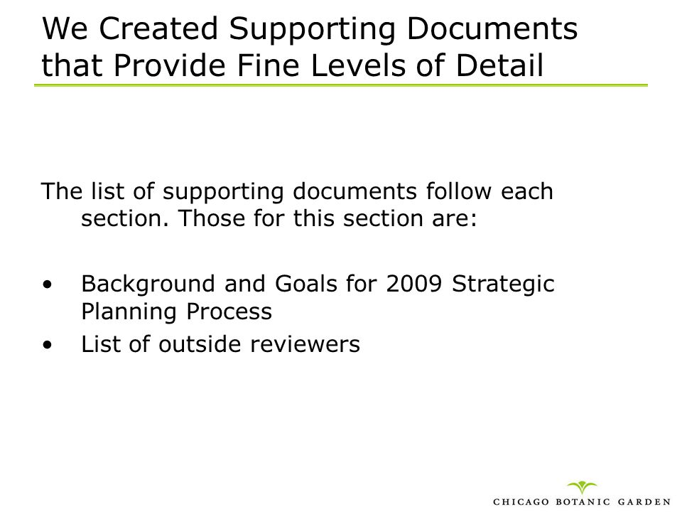 We Created Supporting Documents that Provide Fine Levels of Detail