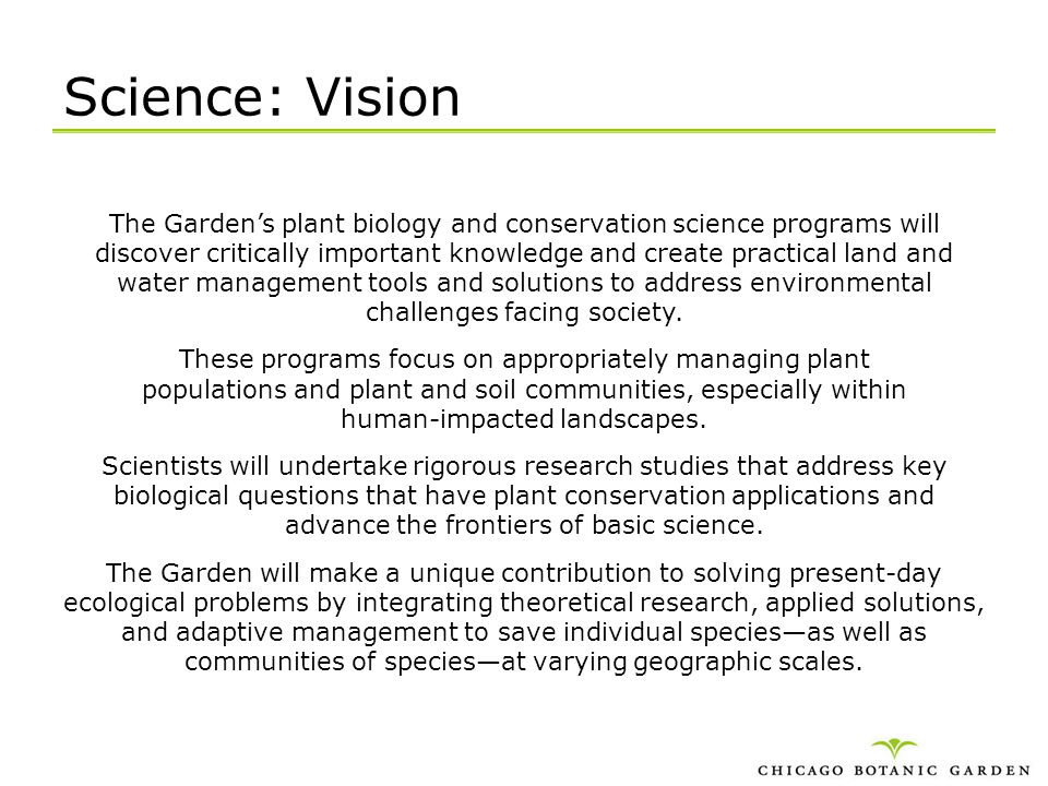 Science: Vision