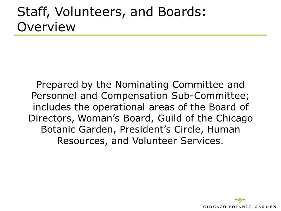 Staff, Volunteers, and Boards: Overview