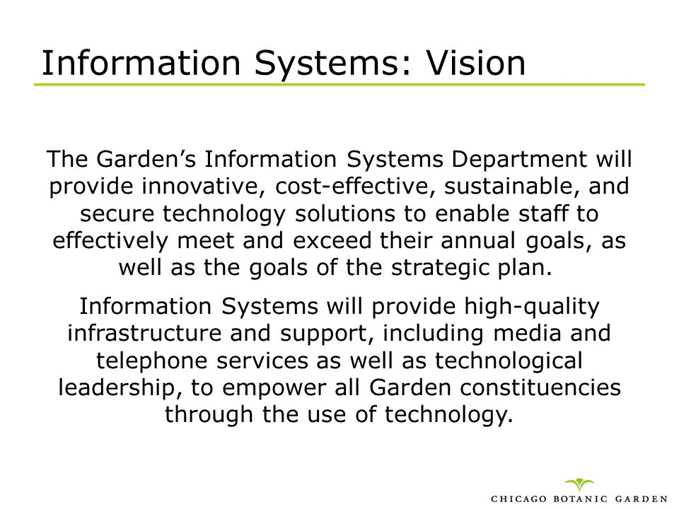 Information Systems: Vision