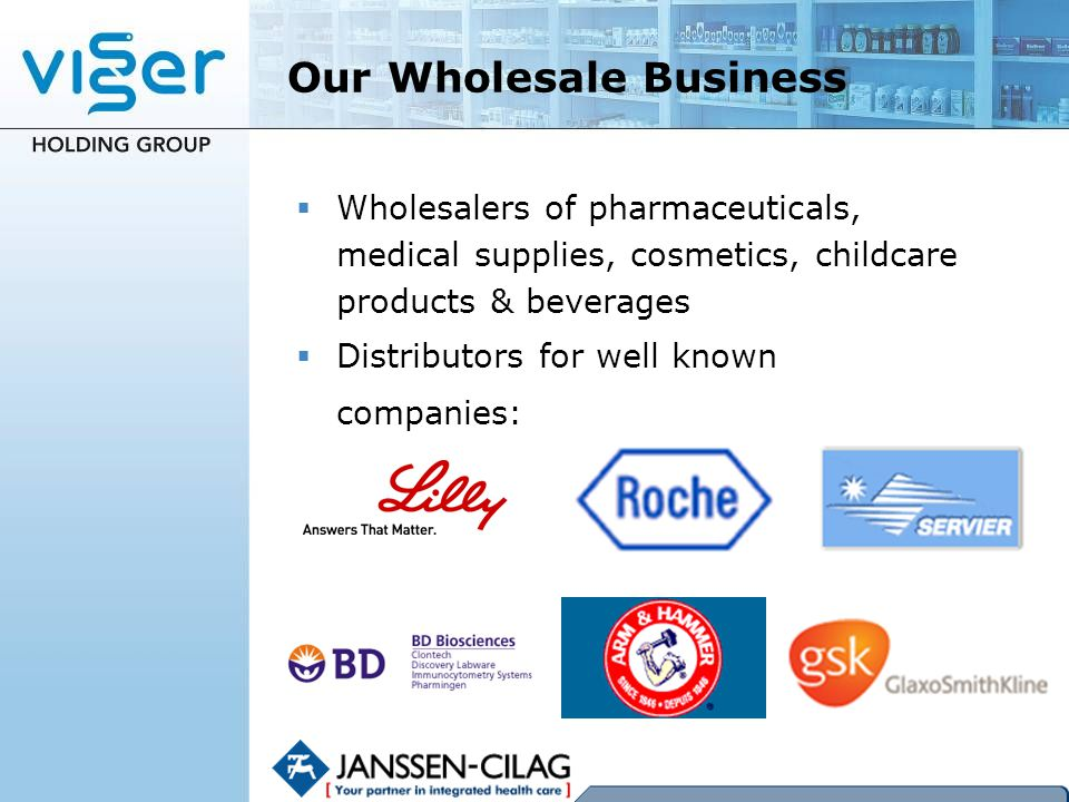 Our Wholesale Business