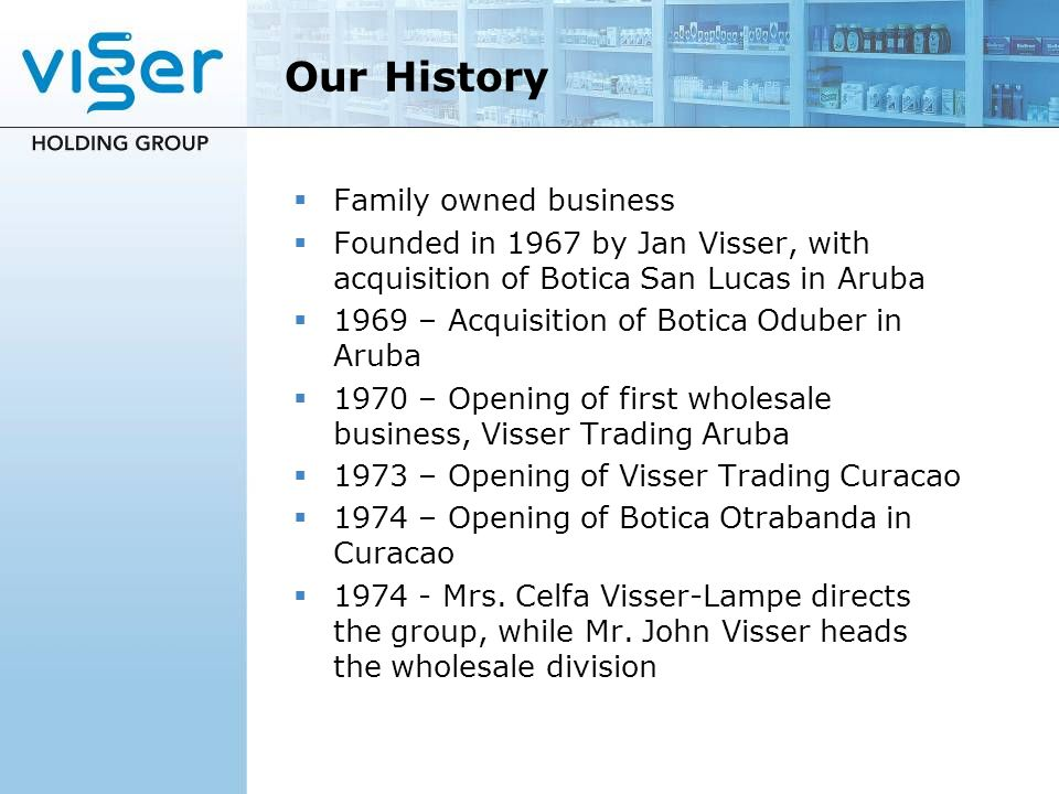 Our History Family owned business