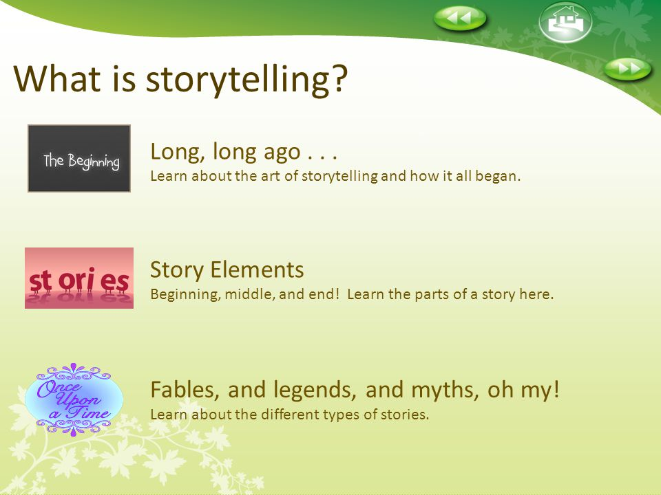 What is storytelling Long, long ago . . . Learn about the art of storytelling and how it all began.