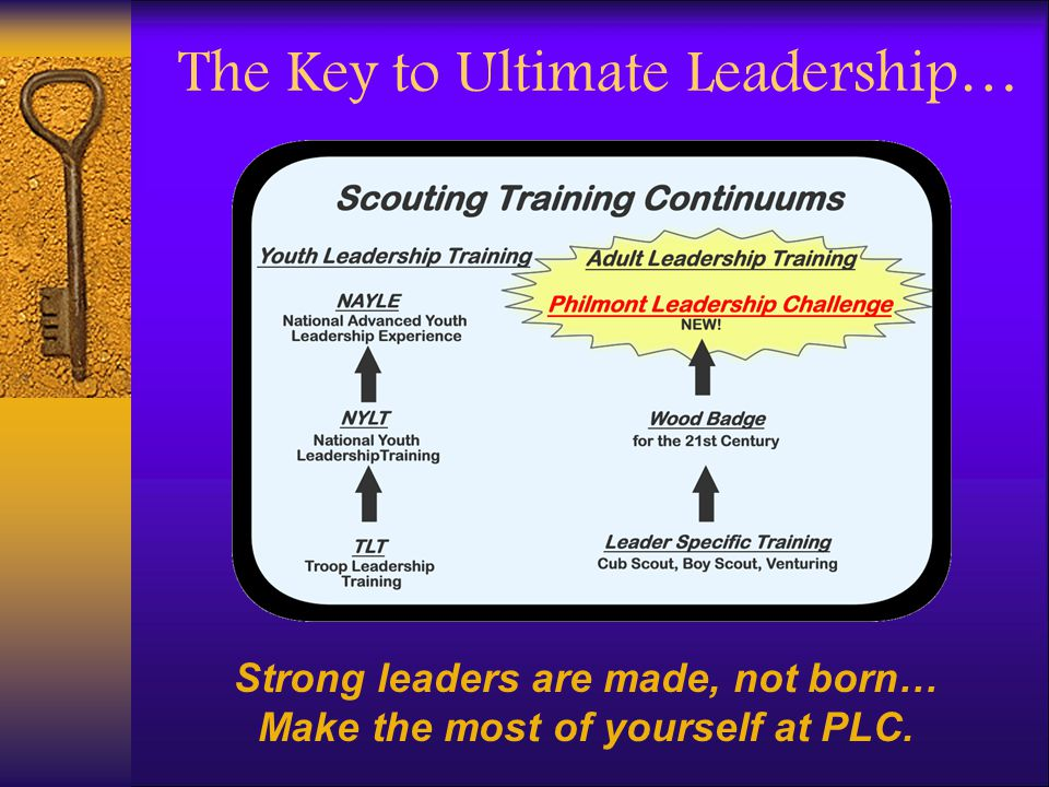 The Key to Ultimate Leadership…