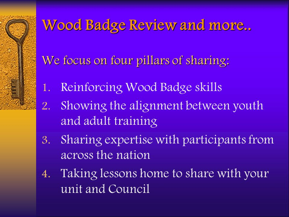 Wood Badge Review and more..