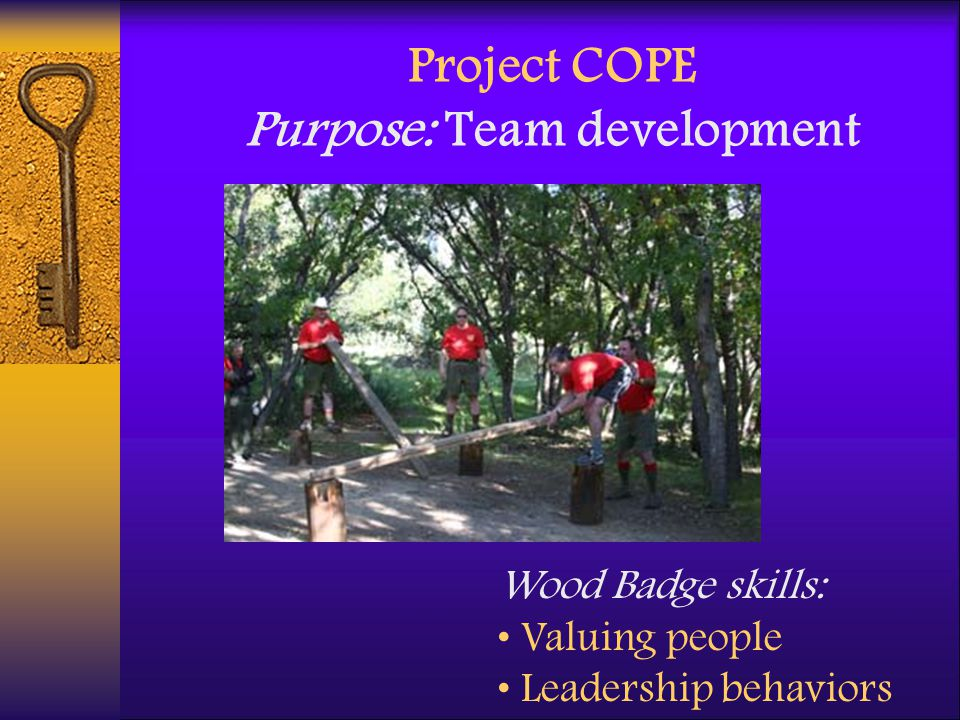 Project COPE Purpose: Team development