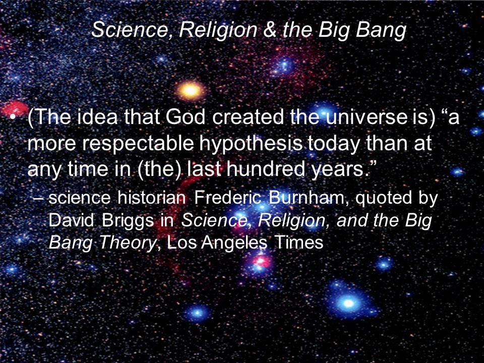Science, Religion & the Big Bang