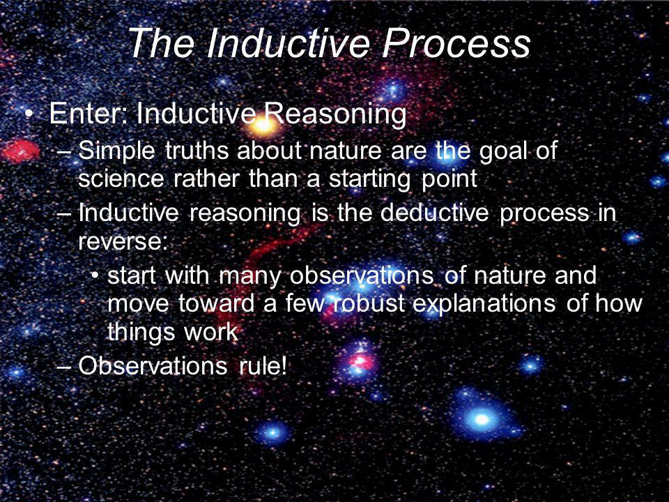 The Inductive Process Enter: Inductive Reasoning