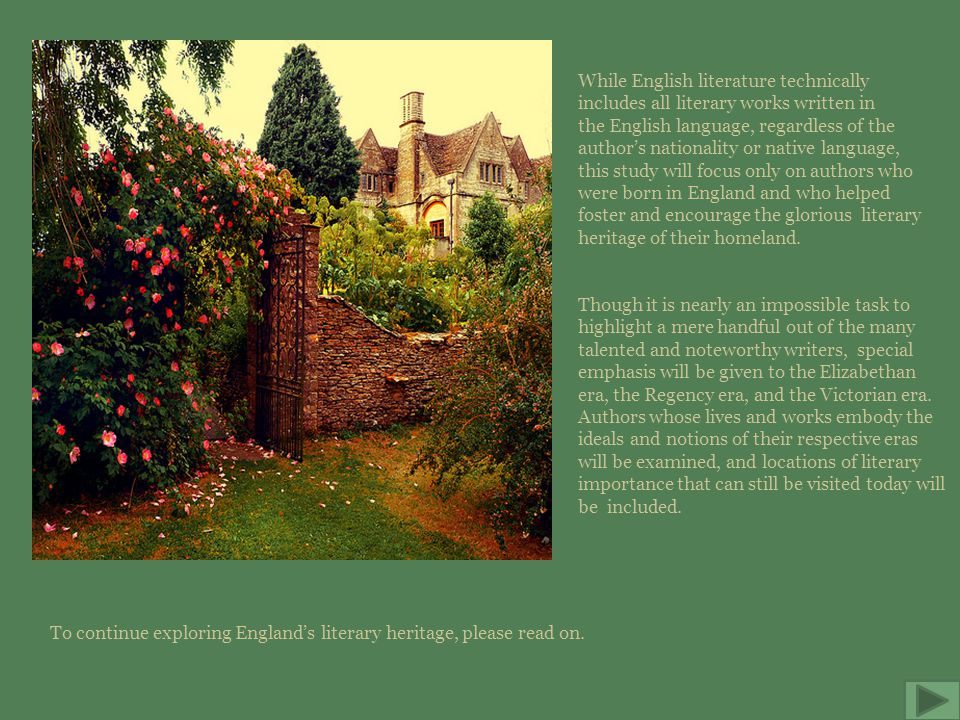 Exploring England's Literary Heritage Skip intro  - ppt download