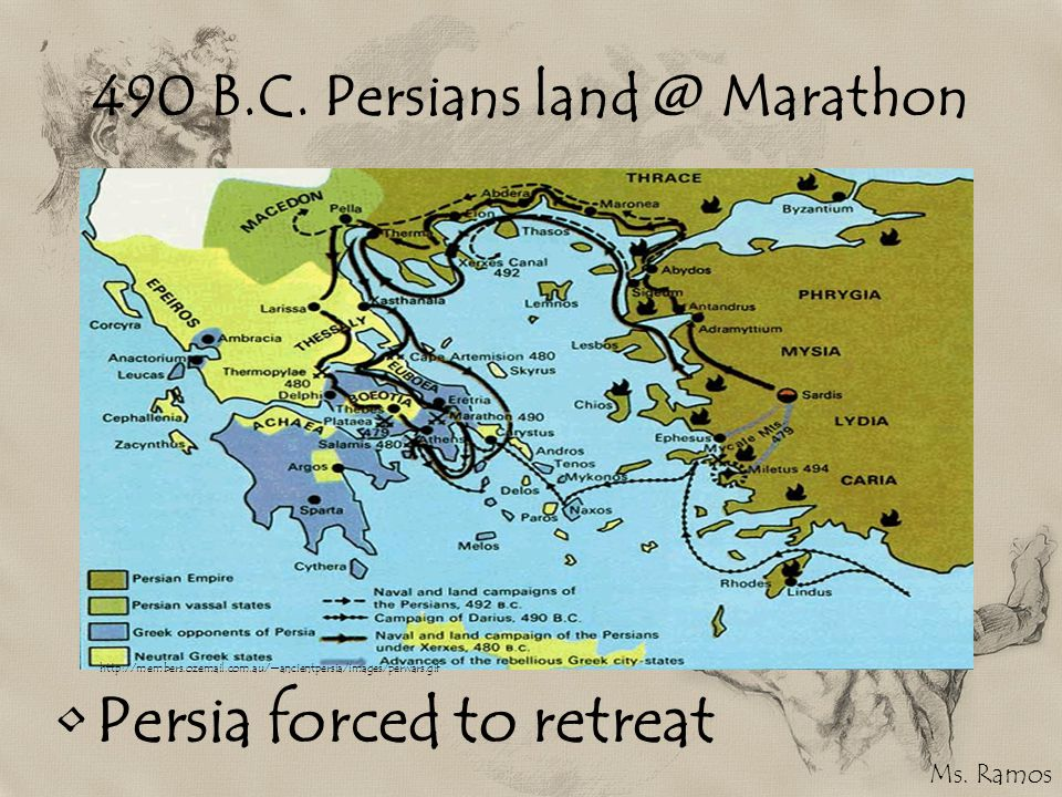490 B.C. Persians land @ Marathon