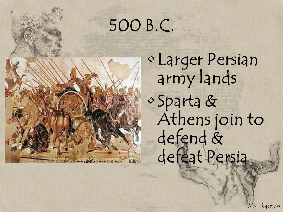 Larger Persian army lands