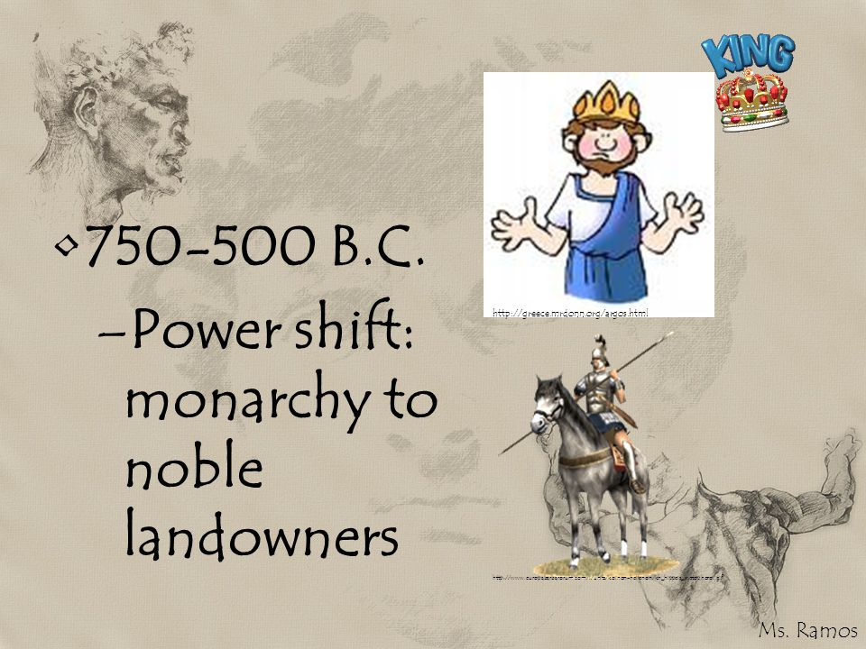 Power shift: monarchy to noble landowners
