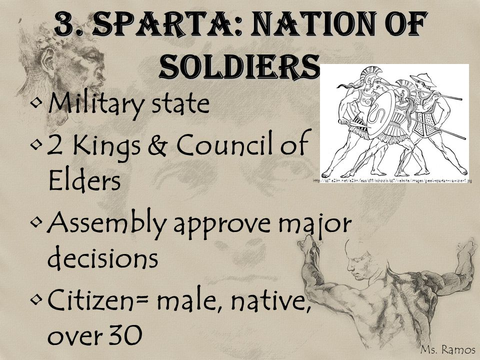 3. Sparta: Nation of Soldiers