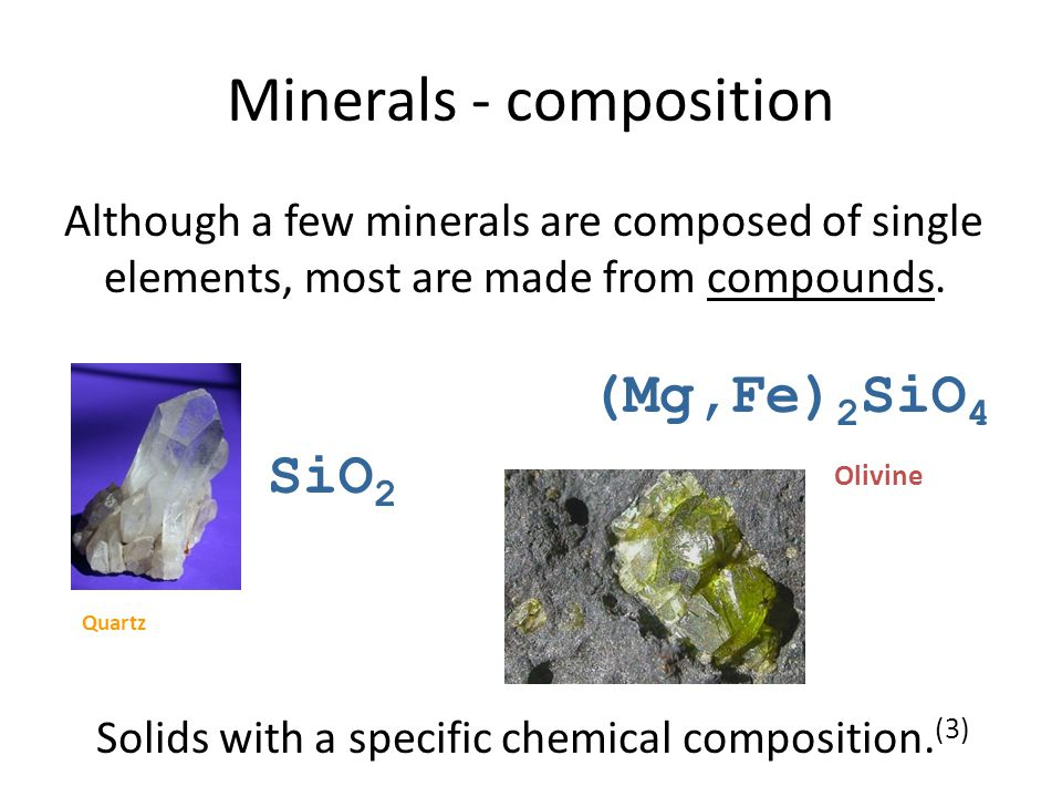 Minerals - composition
