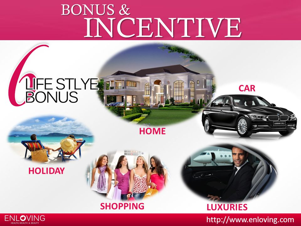 BONUS & INCENTIVE CAR HOME HOLIDAY SHOPPING LUXURIES