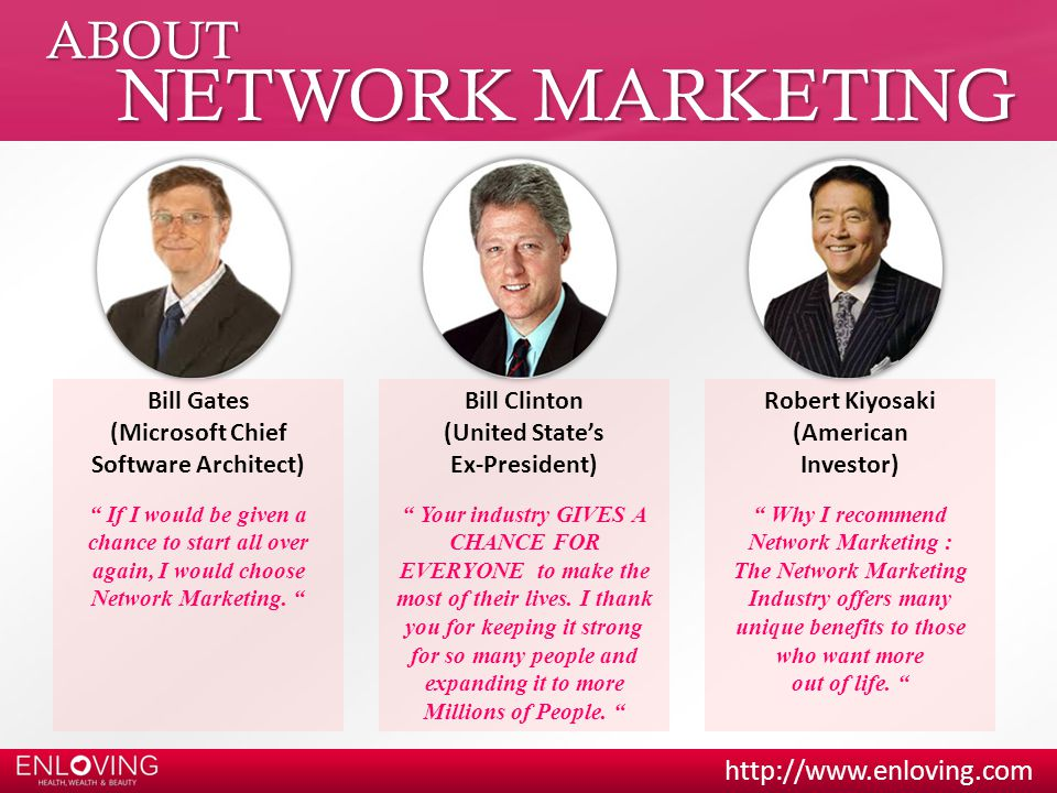 NETWORK MARKETING ABOUT Bill Gates