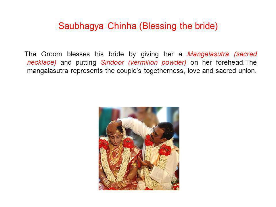 Saubhagya Chinha (Blessing the bride)