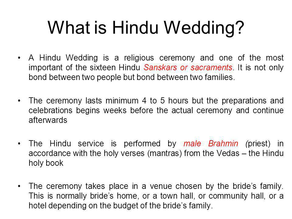 What is Hindu Wedding