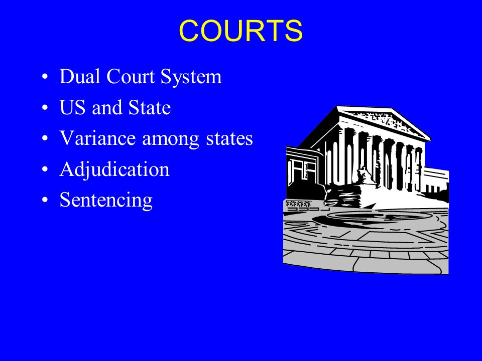 COURTS Dual Court System US and State Variance among states