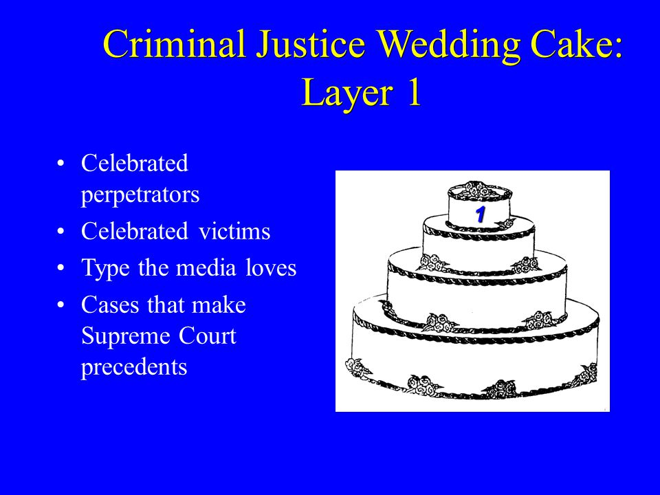 Criminal Justice Wedding Cake: Layer 1