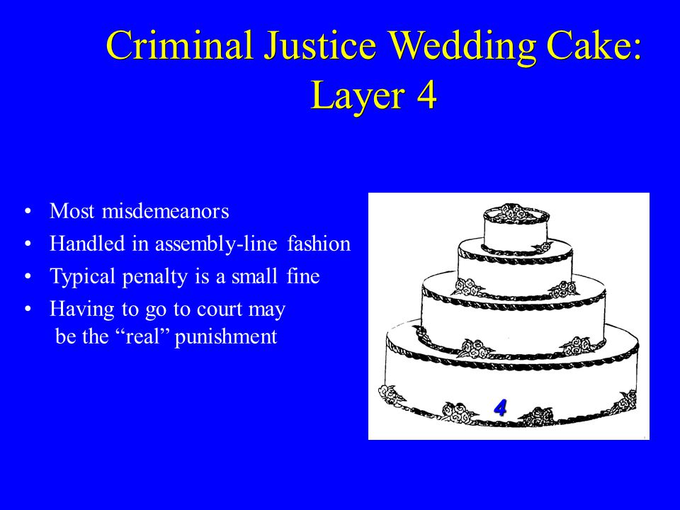 Criminal Justice Wedding Cake: Layer 4
