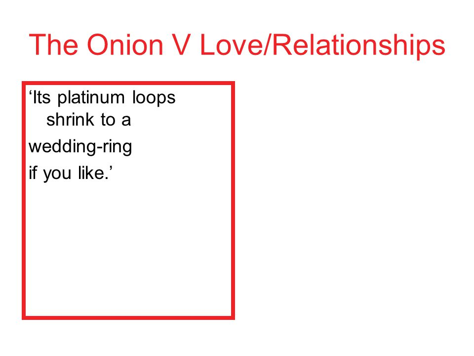 The Onion V Love/Relationships