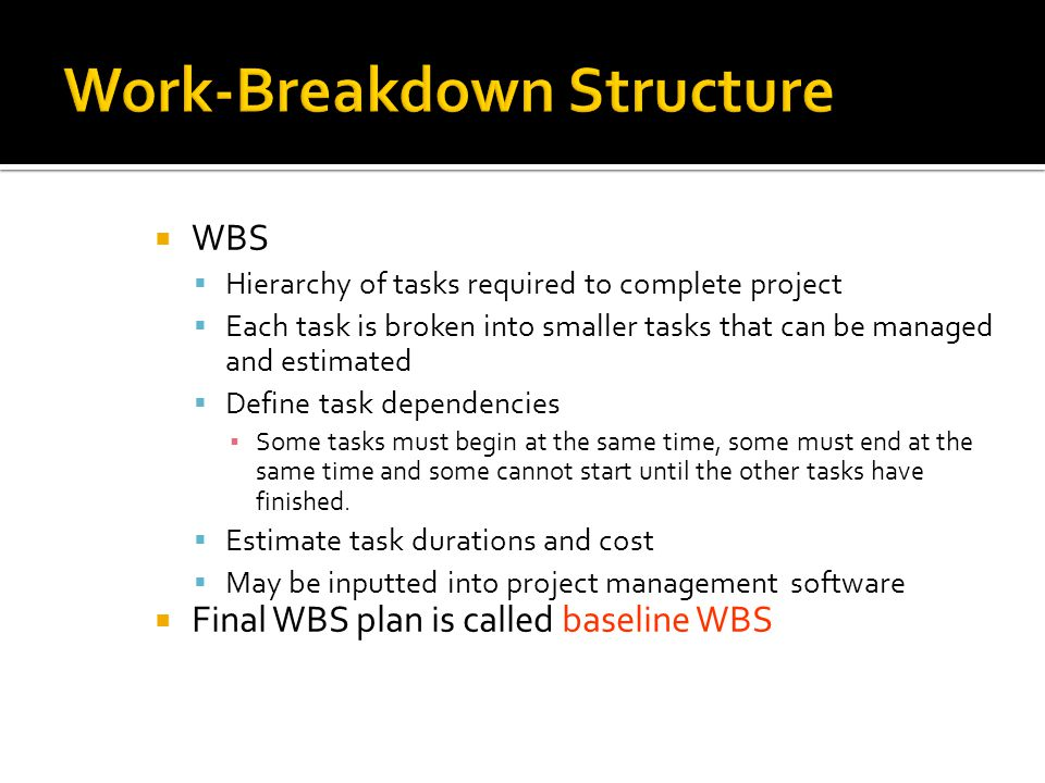 Work-Breakdown Structure