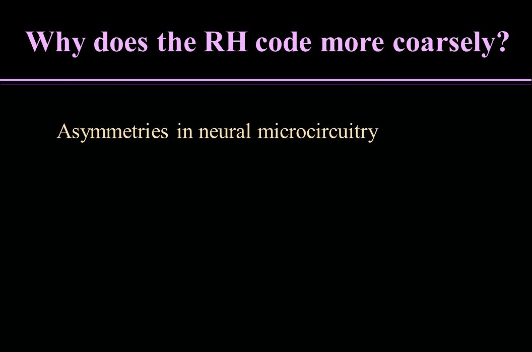 Why does the RH code more coarsely