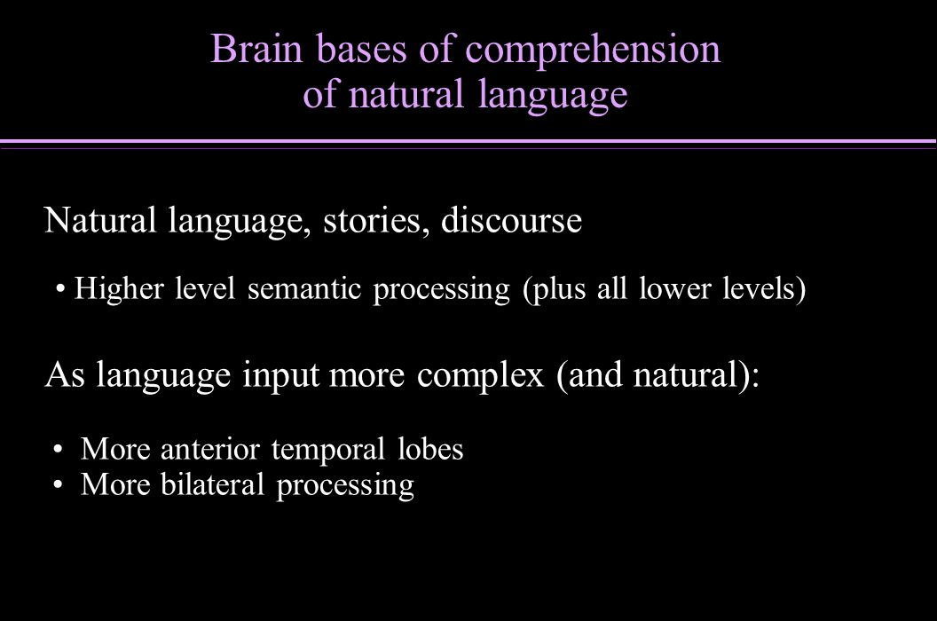 Brain bases of comprehension