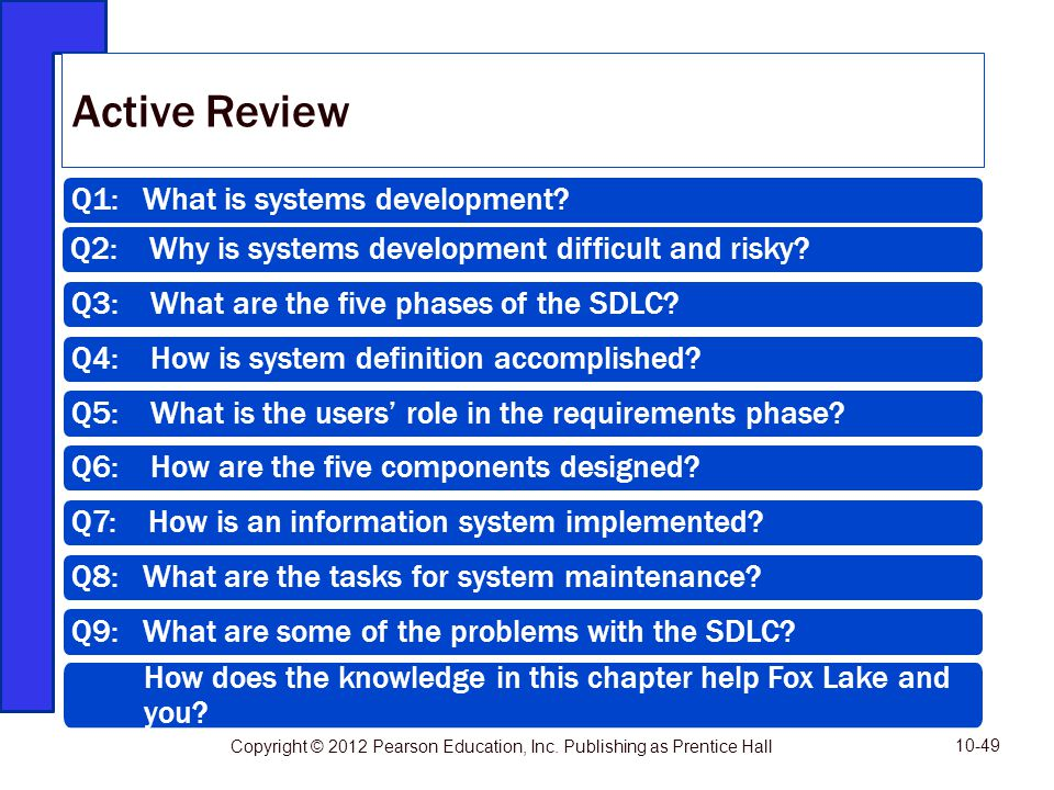Active Review Q1: What is systems development