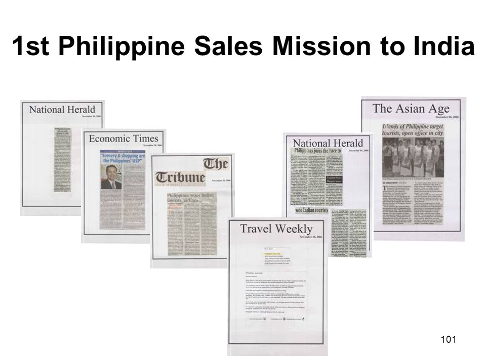 1st Philippine Sales Mission to India