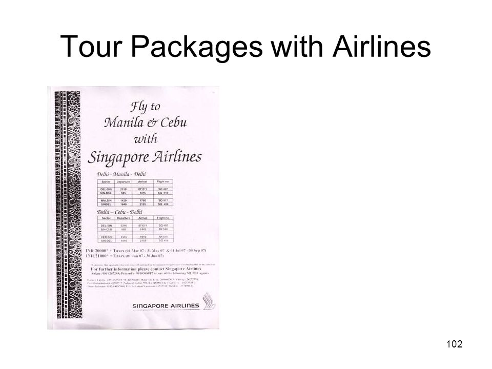 Tour Packages with Airlines