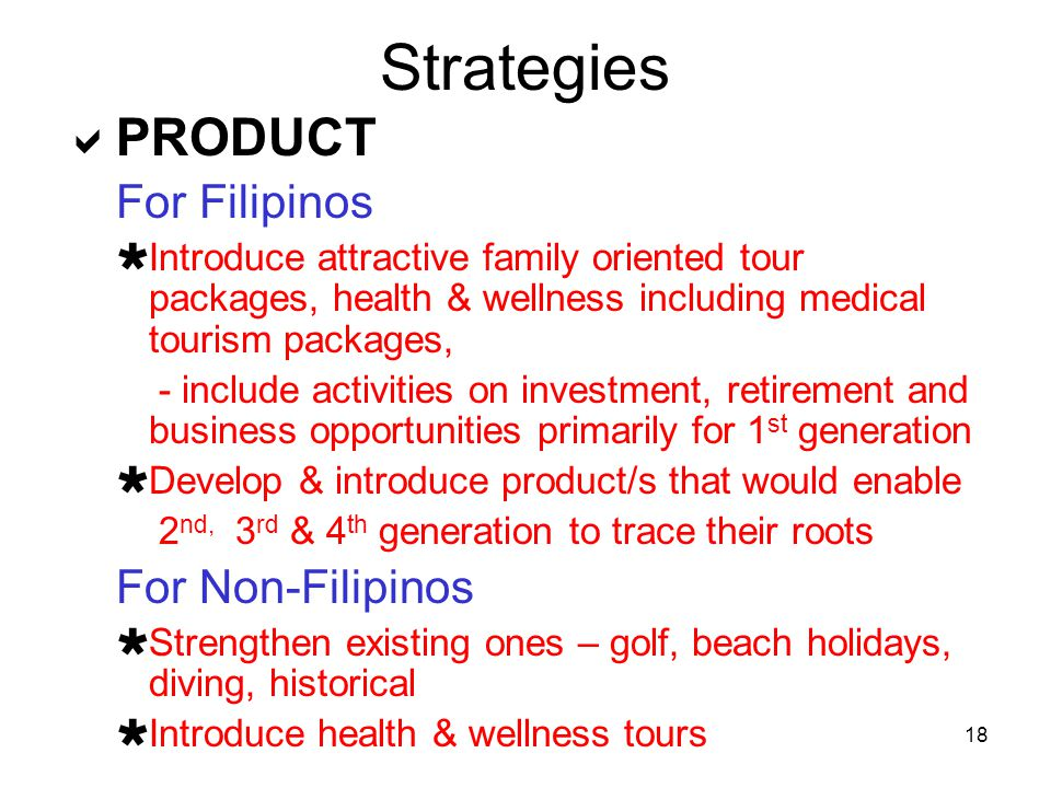 Strategies PRODUCT For Filipinos For Non-Filipinos