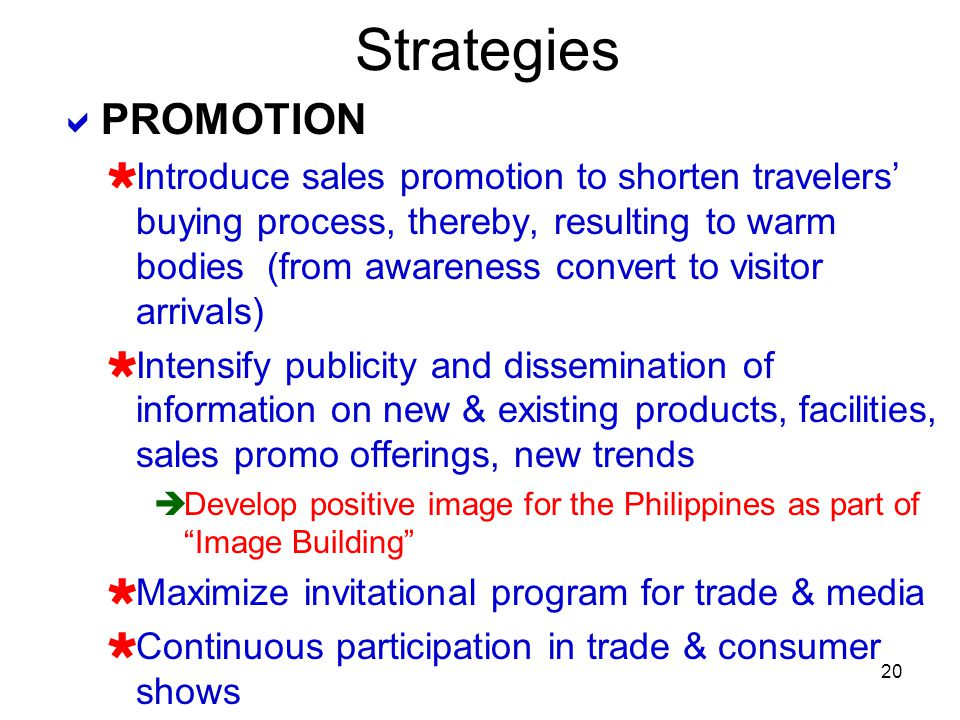 Strategies PROMOTION.