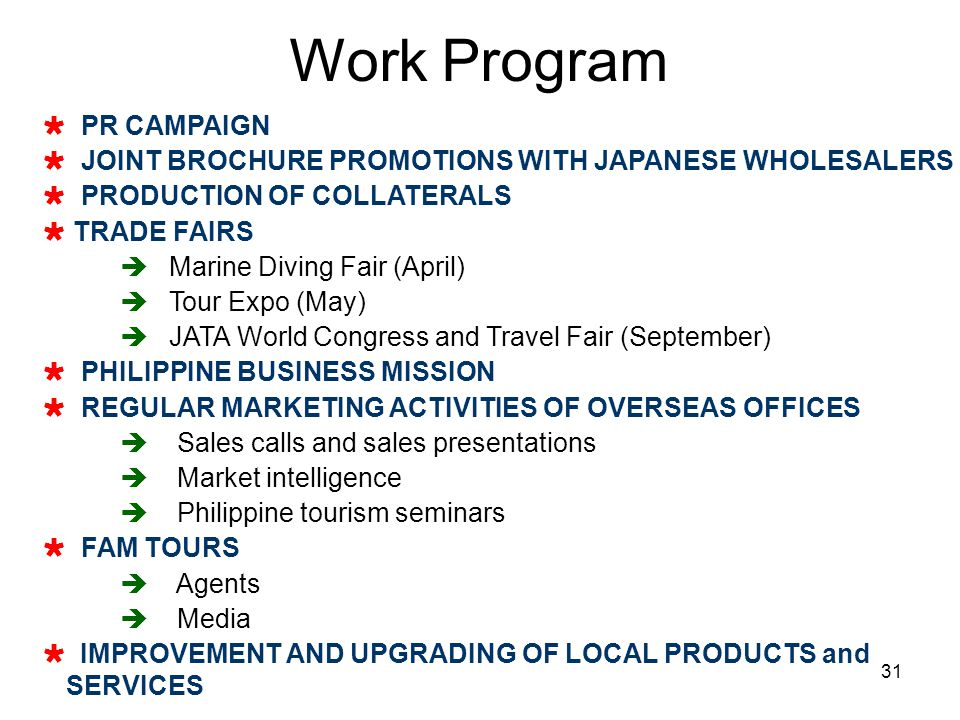 Work Program PR CAMPAIGN
