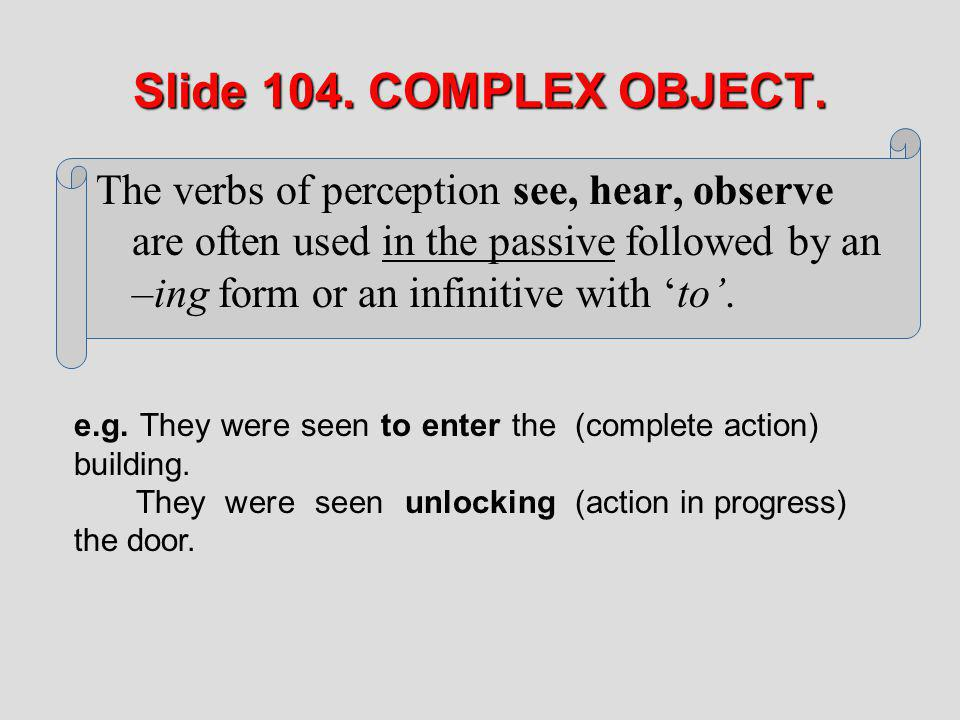 Slide 104. COMPLEX OBJECT.