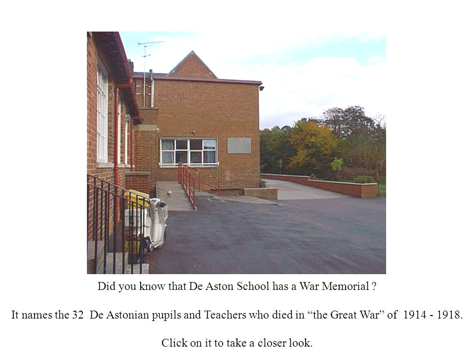 Did you know that De Aston School has a War Memorial