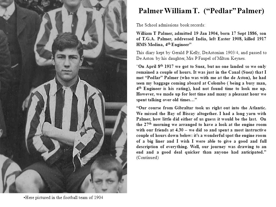 Palmer William T. ( Pedlar Palmer)