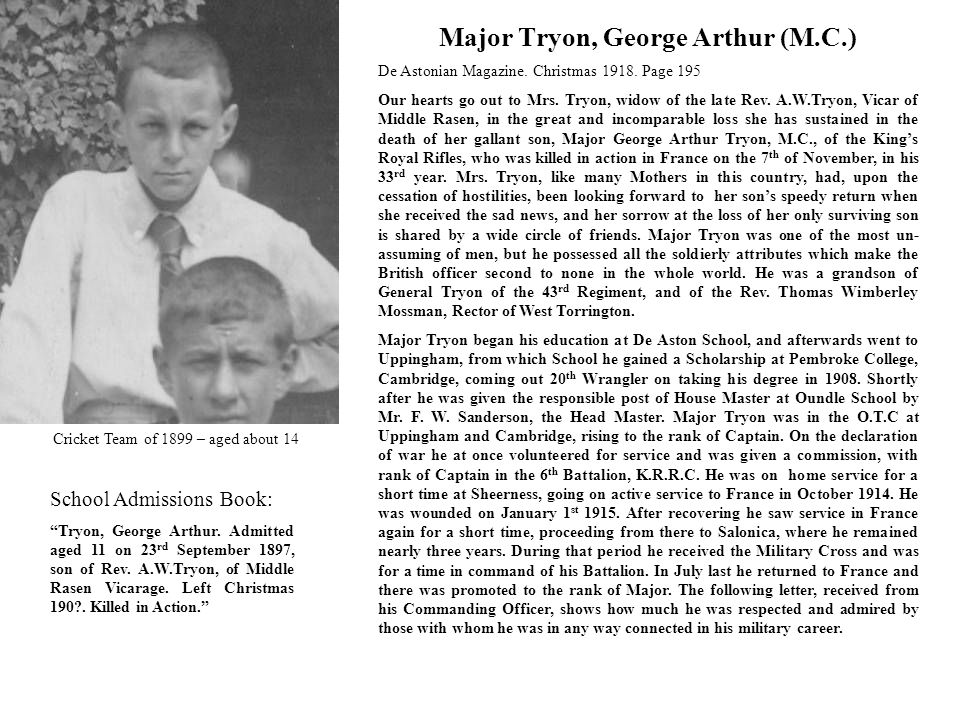 Major Tryon, George Arthur (M.C.)