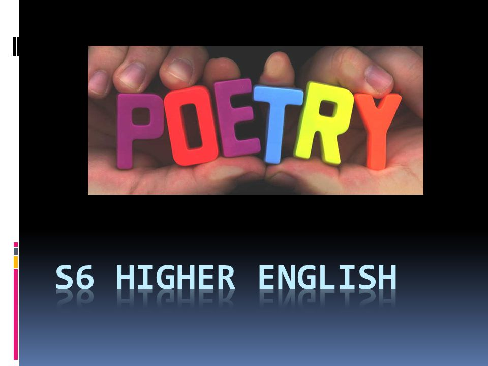 S6 Higher English