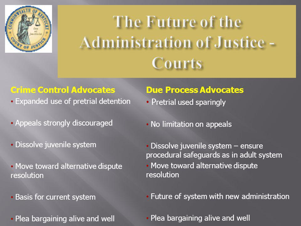 The Future of the Administration of Justice - Courts