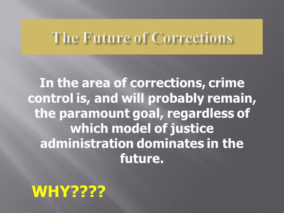 The Future of Corrections