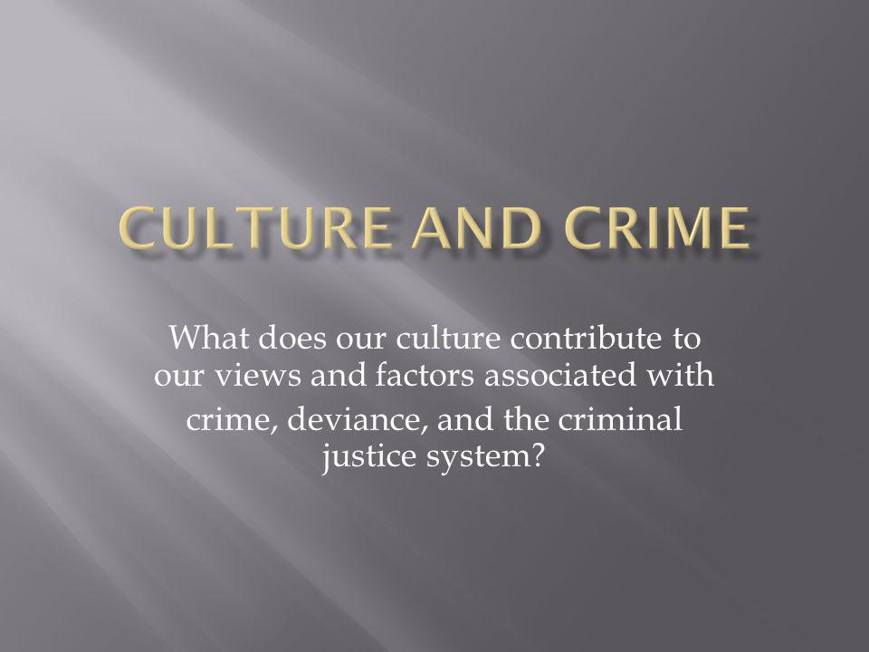 crime, deviance, and the criminal justice system
