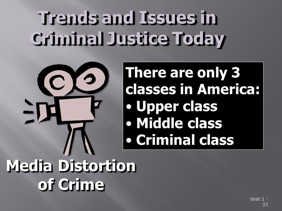 Trends and Issues in Criminal Justice Today
