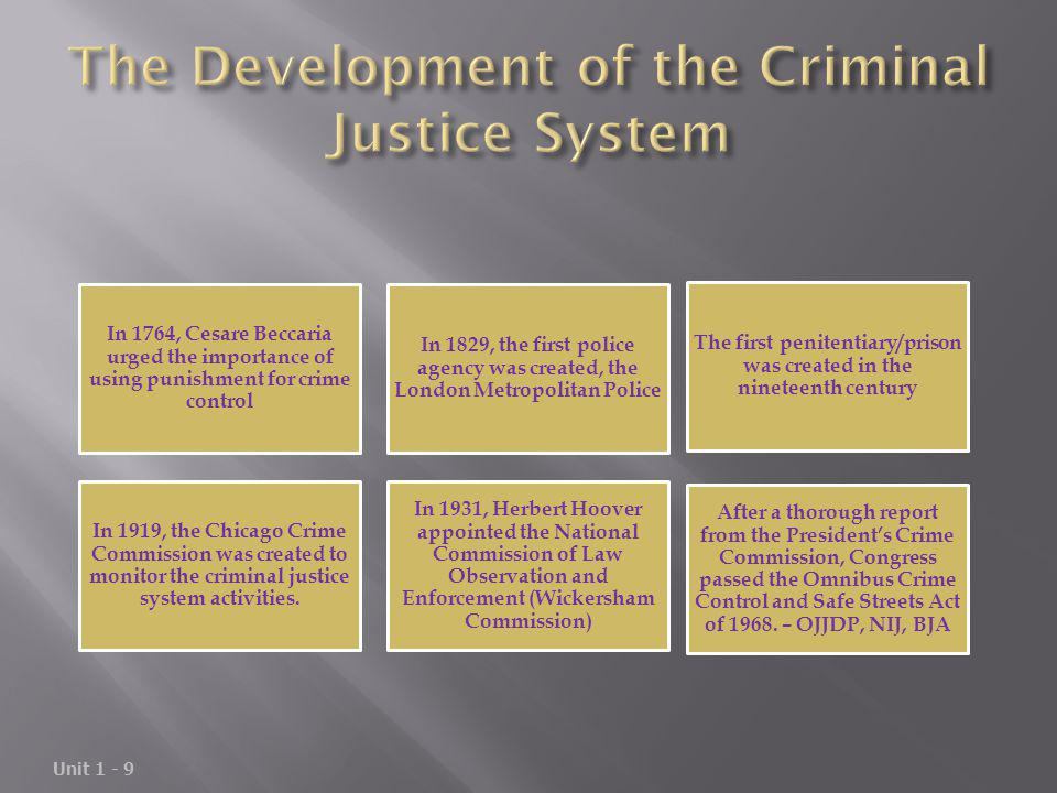 The Development of the Criminal Justice System